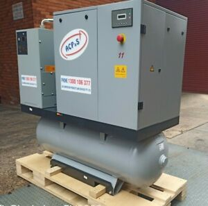 7.5KW ROTARY SCREW AIR COMPRESSOR WITH AIR RECEIVER REFRIGE DRYER & FILTERS PACK