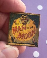 Dollhouse miniature Game Board Vintage toy 1:12 antique MAN IN THE MOON sign