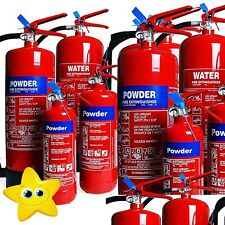 5 x 4KG FIRE EXTINGUISHER DRY POWDER ABC/HOME/OFFICE/WAREHOUSE NEW