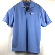 Nike Golf Dri-Fit Mens Size Large Short Sleeve Polo Shirt Blue Simon Roofing Nwt
