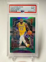 2019-20 Panini Prizm Green #129 LeBron James Los Angeles Lakers PSA 9 MINT