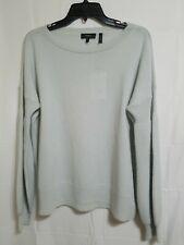 Theory Mixed Stitch Knit Boatneck Cashmere Sweater Pale Green Size M