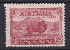 "AUC10501) Australia 1934 2d MacArthur ""Dark Hills"" fresh mint unhinged"
