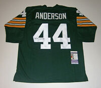 PACKERS Donny Anderson signed custom green jersey w/ #44 JSA COA AUTO Autograph