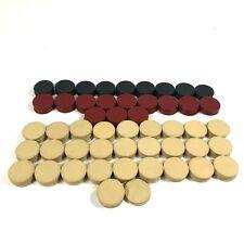 Vintage Bakelite Poker Chips - 45 Black - 60 Red - 142 Beige - 247 Total
