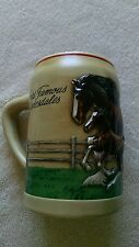 Budweiser BeerStein Mug World Famous Clydesdale's CERAMARTE FREE SHIPPING