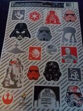 Star Wars Christmas window clings Yoda R2D2 C3PO Darth Vader