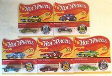 Hot Wheels 2018 50th Anniversary Redline Set of 5 Replica UNPUNCHED Rare!