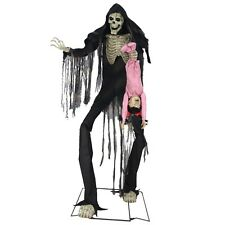 Towering Boogeyman with Victim Animated Prop, SLENDERMAN, Horror Halloween