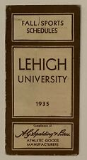 Antique 1935 Lehigh University Football Pocket Schedule Early 1930s Engineers