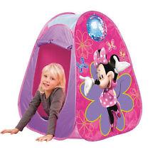 Disney Minnie Mouse Pop-Up Tente de Jeu Rose Léger Dome Enfants Zip Maison