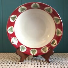 "Canterbury Potteries Christmas Tradition Vegetable Serving Bowl Dish 9"" EUC!"