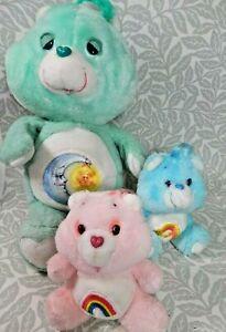 Vintage Kenner Care Bears 1980's Wish Bear Cheer Bear & Bedtime Bear