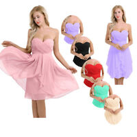 Women's Chiffon Formal Evening Dresses Short Bridesmaid Dresses Party Prom Gown