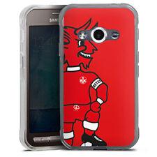 Samsung Galaxy Xcover 3 Silikon Hülle Case - FCK Betzi mit Fußball