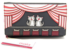 MALA Leather Cat Purse Black Ladies Matinee Coins Card Holder Wallet Purses RFID