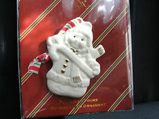 Lenox Merrily Yours Snow Girl on Card. New