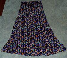 Lularoe Maxi Skirt Size XL Geometric Aztec Purple Turquoise Black