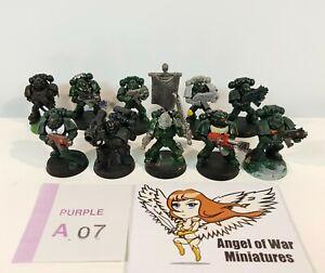 40K Space Marines Tactical Squad Multi-Part 3RD Ed. Era Dark Angels (x10) PA07