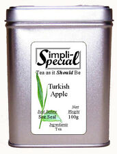 Turkish Apple Loose Leaf Real Fruit Tea Infusion 100g in Gift Caddy