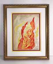 "1937 Abraham RATTNER Original Lithograph ""Element of Fire"" Framed SIGNED COA"