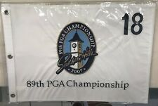 2007 PGA CHAMPIONSHIP GOLF PIN FLAG Southern Hills Embroidered Tiger Woods!