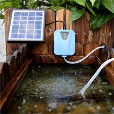 Solar Powered Panel Air Oxygenator Pond Fish Tank Water Garden Air Pump Outdoor