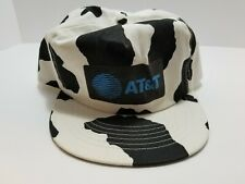 AT&T Cow Pattern Trucker Hat Made In USA