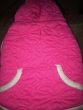 Dog Hoodie Pink Quilted Stitched Hoodie XS Extra Small New