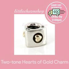 Authentic Genuine PANDORA Hearts Of Gold Charm - 790305 RETIRED