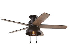 ✅ Hunter Ceiling Fan Light Kit 52 in. LED Indoor Outdoor Bronze Rustic Farmhouse