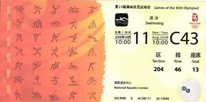 King of Gold Medal Michael Phelps 2008 Beijing Olympic Final Ticket WR USA C43