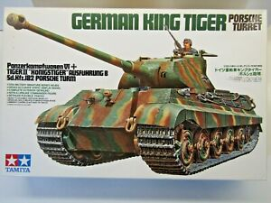 Tamiya 1:35 Scale German King Tiger (Porsche Turret) Model Kit - New # 35169