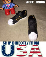"KUMIK 1/6 Adidas Style Female Sneakers BLACK GOLD 12"" Hot Toys Figure USA SELLER"