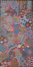 Linda Smith Penangke Aboriginal Art Print My Red Desert Wildflowers100x50cm