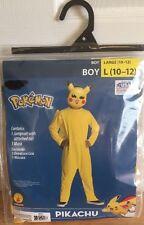 Pokémon Pikachu Costume New Boy Large 10-12 Halloween Cosplay 2 Piece Set