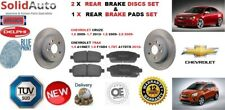 FOR CHEVROLET CRUZ TRAX REAR BRAKE DISCS 268MM + BRAKE DISC PADS SET