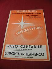 Partition Paso Cantabile Subira Sinfonia en Flamenco Castillos