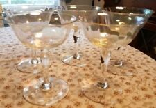 VINTAGE 1940's BEAUTIFUL IRRIDESCENT BOWL CHAMPAGNE GLASSES. BUY THEM NOW!!!