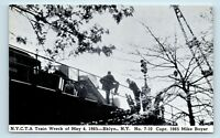 Brooklyn, NEW YORK - 1965 TRAIN WRECK DISASTER POSTCARD -  SE on E 98TH ST - S2