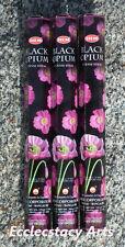 Hem Black Opium incense 3 x 20 Stick Box, 60 Sticks (Wicca) Bulk Lot New {:-)
