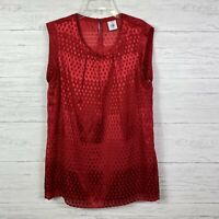 Cabi Women's Top Sleeveless Keyhole Back Red Scarlett Blouse Lined Size M 3130