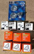 10x 12V 20W  GU 5.3 HALOGEN BULBS & 3x 50W GE Philips BQ