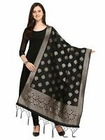 Women'S Poly Silk Banarasi Dupatta Ethnic Stole Scarf Scarves Wrap