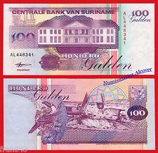 SURINAM SURINAME 100 Gulden 1998 Pick 139b  SC  / UNC