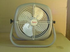 "Vintage all Metal Floor FAN VANCO 9"" 4 blade Works Nice Rare"