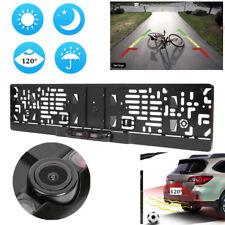 EU Night Vision IR Car Rear View Backup Camera License Plate Frame Cam 1/4 CMOS