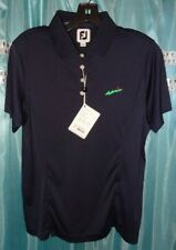 FOOTJOY WOMEN'S S/S SOLID NAVY WOMEN'S LADIES SZ LARGE GOLF POLO NWT $69