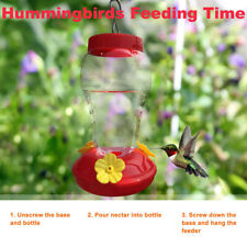 Hanging Water Hummingbird Feeder Wild Bird Nectar Plastic Outdoor Garden Feeders
