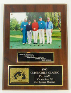 1993 Oldsmobile Classic Pro-Amateur Photo Plaque Tom Brennan + 4-other golfers